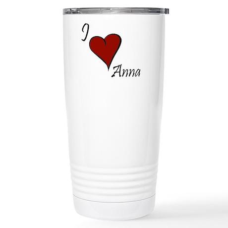 I love Anna Stainless Steel Travel Mug