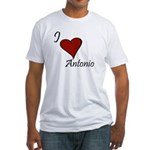 I love Antonio Fitted T-Shirt