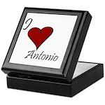 I love Antonio Keepsake Box