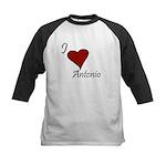 I love Antonio Kids Baseball Jersey