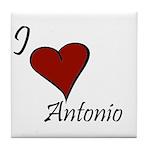 I love Antonio Tile Coaster