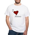 I love Antonio White T-Shirt