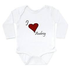 I love Audrey Long Sleeve Infant Bodysuit