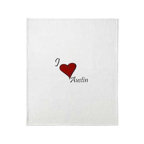 I love Austin Throw Blanket