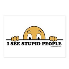 I See Stupid People Postcards (Package of 8)
