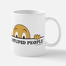 I See Stupid People Small Small Mug
