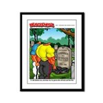 Grave - Framed Panel Print