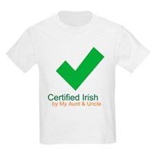 Certified Irish/Aunt/Uncle T-Shirt