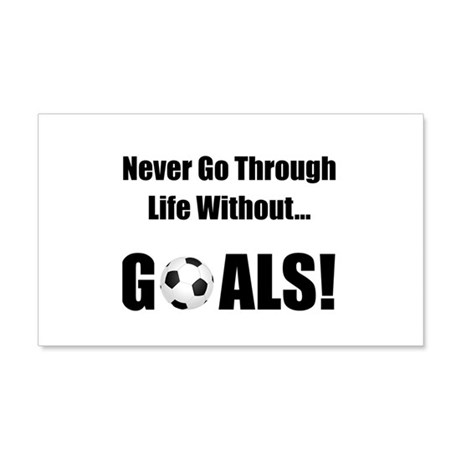 Soccer Goals! 22x14 Wall Peel