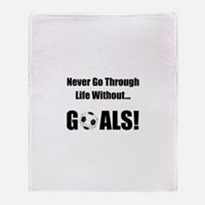 Soccer Goals! Throw Blanket
