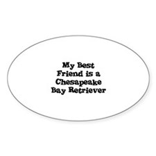 My Best Friend is a Chesapeak Oval Decal