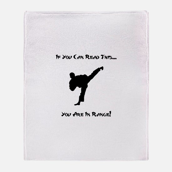 You Are In Range! Throw Blanket