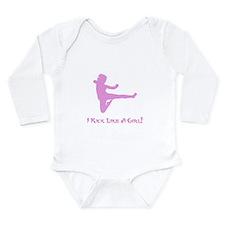 Kick Like A Girl! Long Sleeve Infant Bodysuit