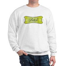 Lime Green Leopard Bitch Sweatshirt