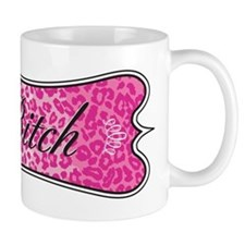 Pink Leopard Bitch Mug