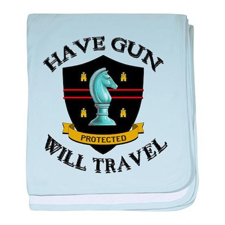 Have Gun baby blanket