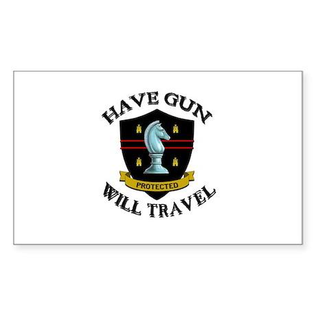Have Gun Sticker (Rectangle)