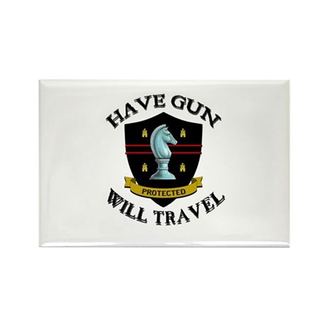 Have Gun Rectangle Magnet (100 pack)