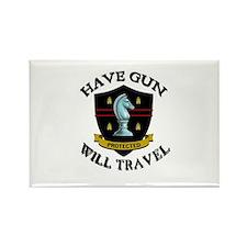 Have Gun Rectangle Magnet