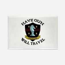 Have Gun Rectangle Magnet
