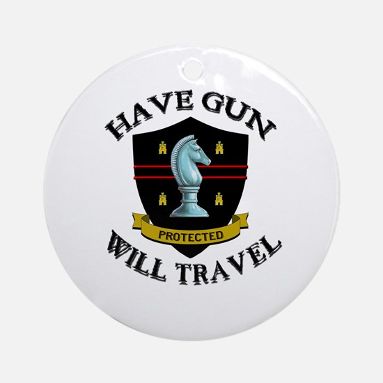 Have Gun Ornament (Round)