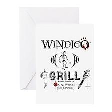 Wendigo or Windigo Grill Greeting Cards (Pk of 20)