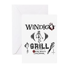 Wendigo or Windigo Grill Greeting Cards (Pk of 10)