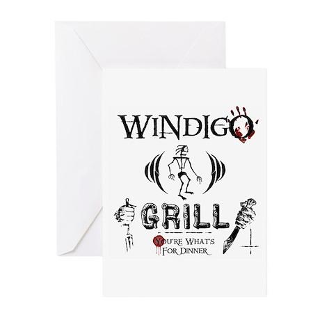 Wendigo or Windigo Grill Greeting Cards (Pk of 10)