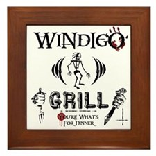 Wendigo or Windigo Grill Framed Tile
