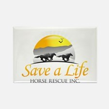 Save A Life Horse Rescue Rectangle Magnet