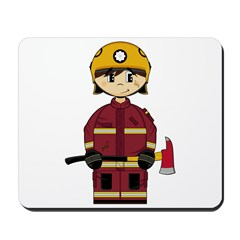 Cute UK Firefighter Mousepad