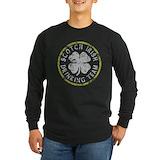 Scottish drinking team bagpipes Long Sleeve Dark T-Shirts