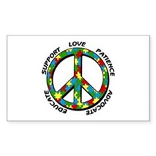 Autism Peace Sign Decal