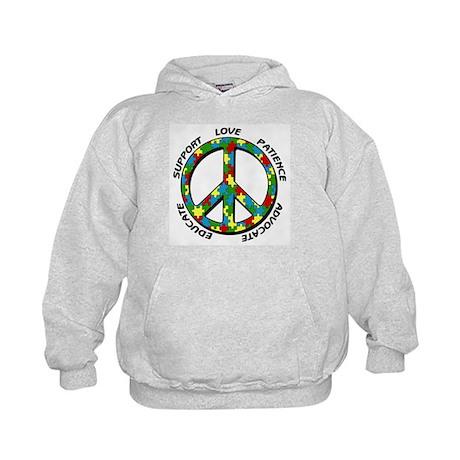 Autism Peace Sign Kids Hoodie