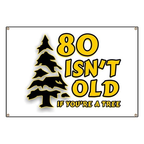 80 Isnt old Birthday Banner
