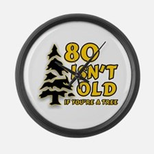 80 Isnt old Birthday Large Wall Clock