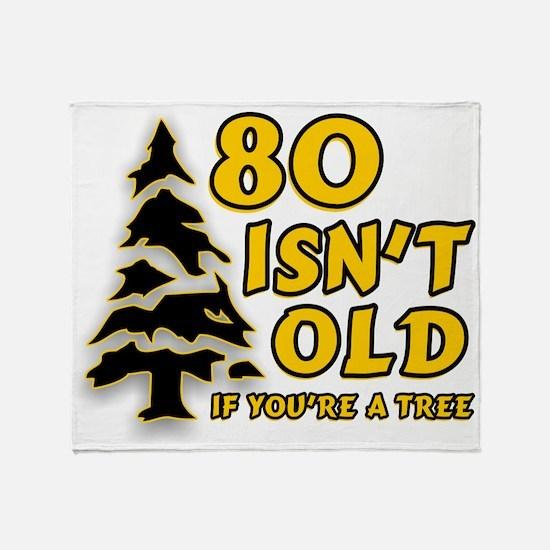 80 Isnt old Birthday Throw Blanket