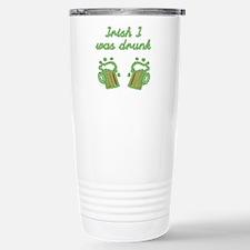 Irish I Was Drunk Stainless Steel Travel Mug