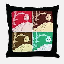 Opossum Love Throw Pillow