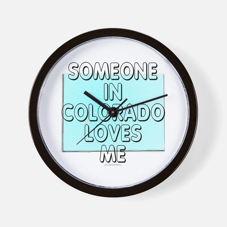 Someone in Colorado Wall Clock