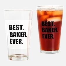 Best Baker Ever Drinking Glass