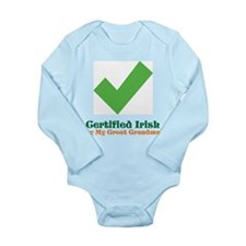 Certified Irish/Great Grandma Long Sleeve Infant B