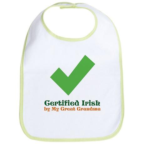 Certified Irish/Great Grandma Bib