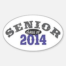 Senior Class of 2014 Sticker (Oval)