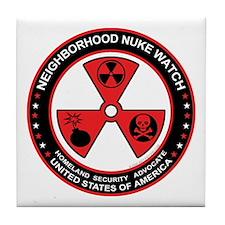 Neighborhood Nuke Watch Tile Coaster