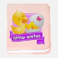 Little Sister Duckling baby blanket