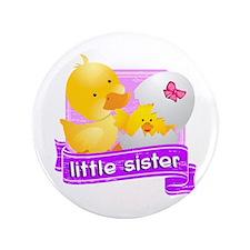 "Little Sister Duckling 3.5"" Button"
