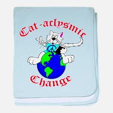 Cat-aclysmic Change baby blanket