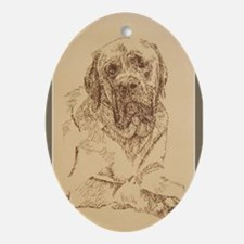 Mastiff Ornament (Oval)