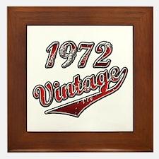 Funny 1972 birthday. Framed Tile